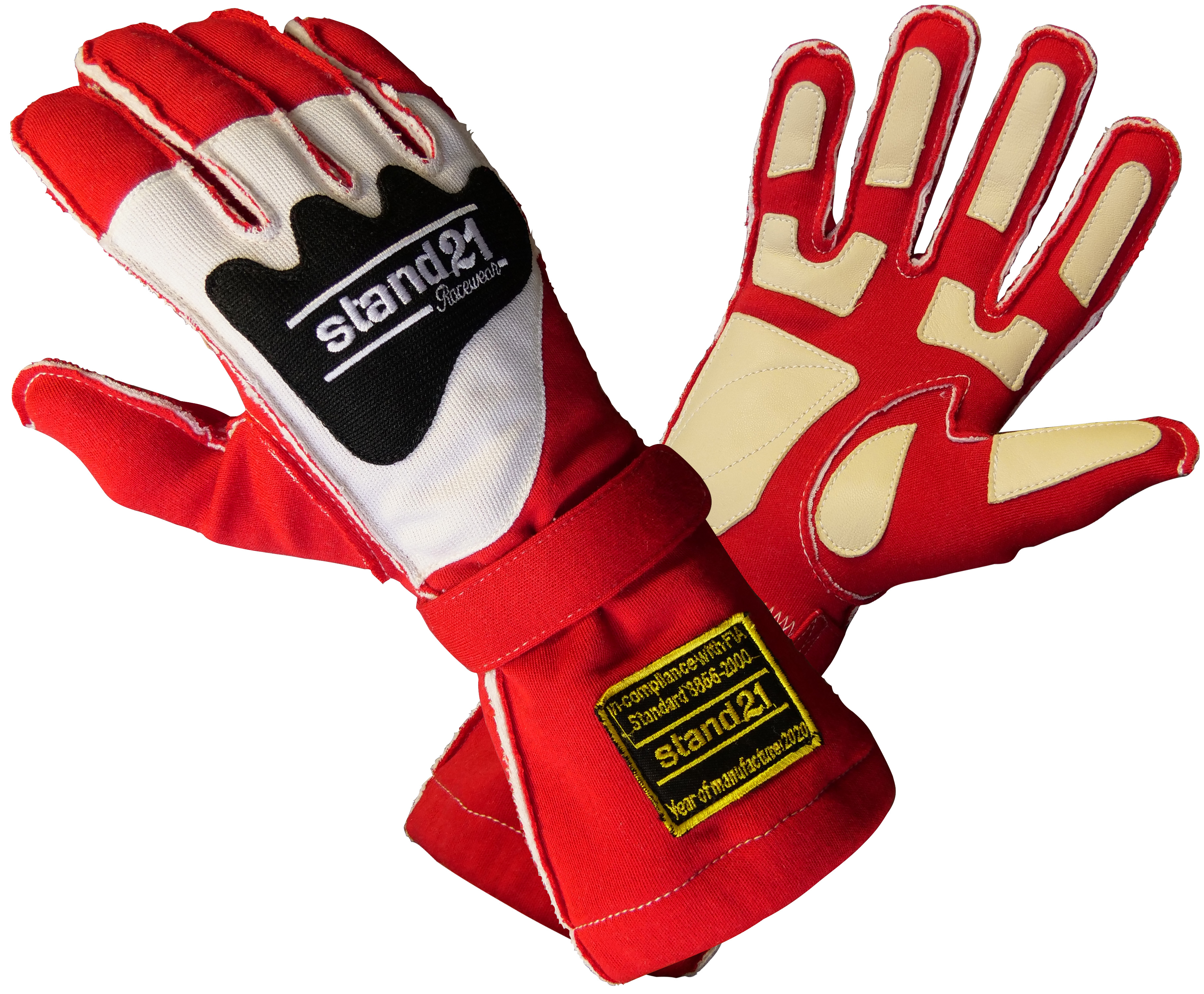 Stock red Outside Seams II gloves