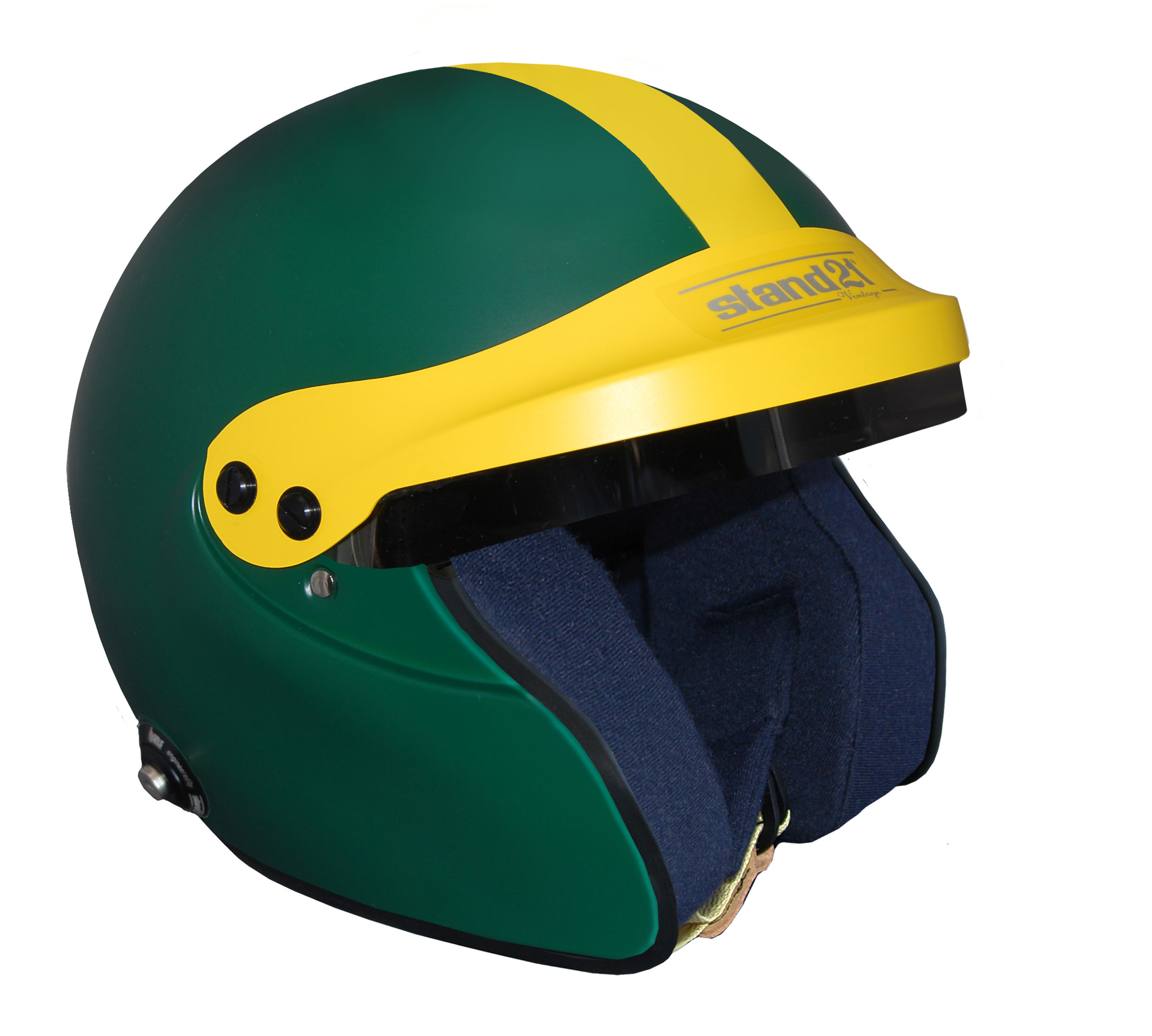Stock green Vintage IVOS-Open Face helmet