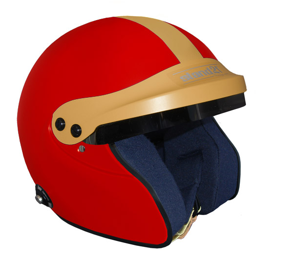 Stock red Vintage IVOS-Open Face helmet