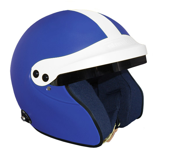 Stock blue Vintage IVOS-Open Face helmet