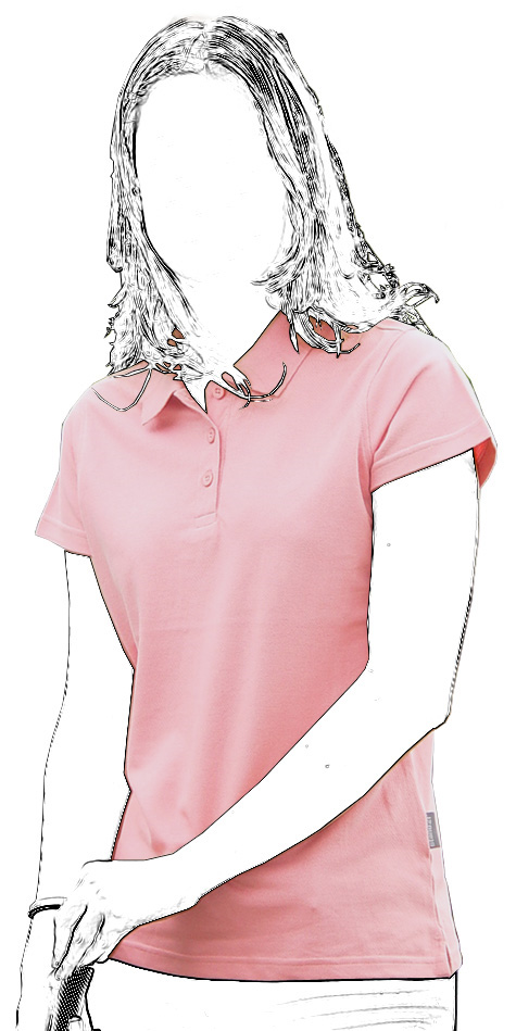 Short-sleeved pink Adelaide polo-shirt