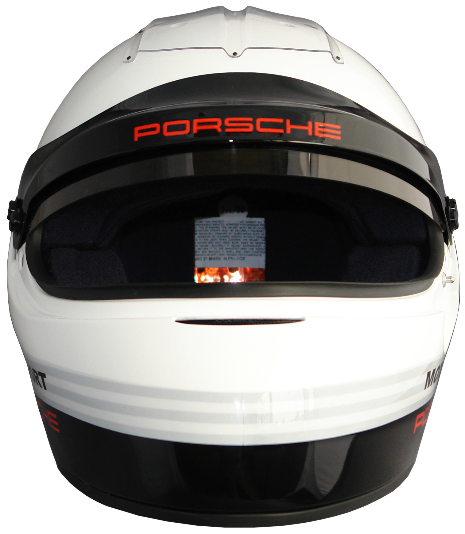 Porsche Motorsport IVOS-Double Duty helmet with SNELL SA 2010 standard